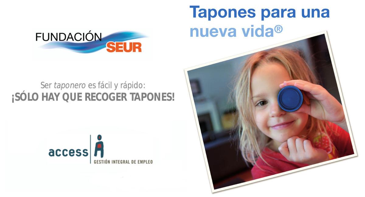 Colaboramos con Fundación Seur en su campaña 'Tapones para una nueva vida'