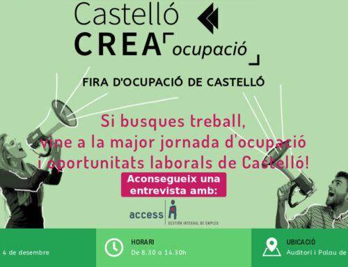 Conéctate al Empleo en Castellón | II Fira Castellón Crea Ocupació