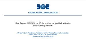 Real Decreto Ley 902/2020