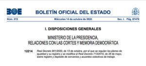 Real Decreto Ley 9012020