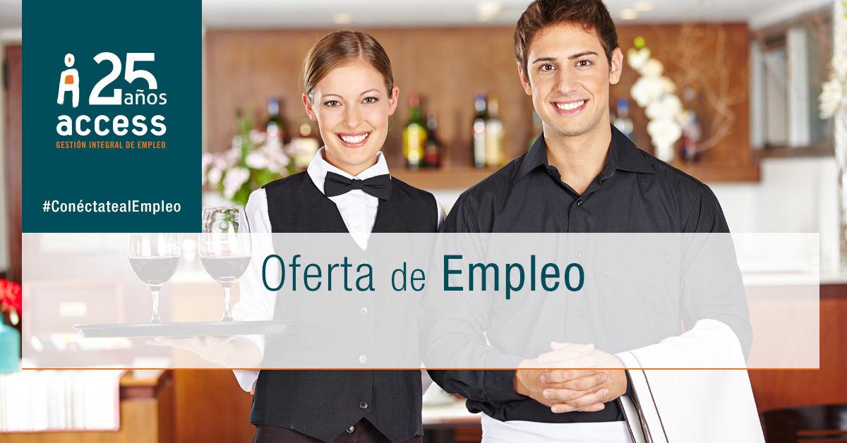 Camarero Oferta de Empleo