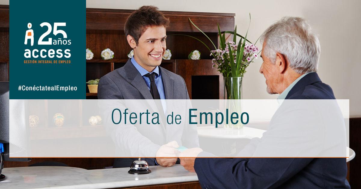 Recepcionista oferta empleo Access